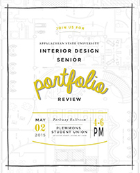 invitation to Senior Portfolio Review on May 2nd, 2015 in Parkway Ballroom PSU from 4 to 6 PM